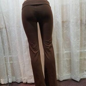 Pants - Fold Over Waist Yoga Pants pre shrunk